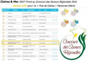 Concours des Saveurs Régionales Poitou-Charentes