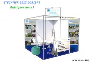 Groupe Navicule Bleue, Atelier de Gens de Mer et Terre-Mer Chantiers sont à Itechmer 2017, salon offert, 1er prix Abilympics Bordeaux Salon STPA.