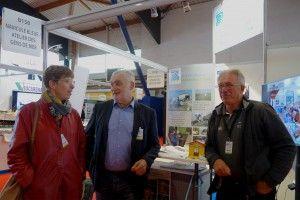 Gérard ROMITI Président du Comité National des Pêches en visite sur le stand de Navicule Bleue au salon Itechmer 2017 à  Lorient