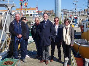 Navicule Bleue accueille Éric BANEL DIRM-SA, le 25 mars 2019 sur le port de La Cotinière.