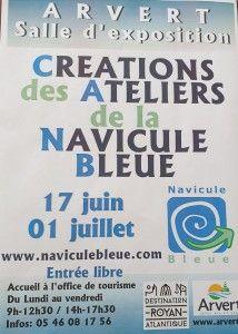 Créations des ateliers de la Navicule Bleue 17 juin au 1er juillet
